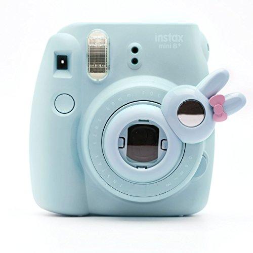Süßes Häschen Selfie und die Nahaufnahme Lens für Fujifilm Instax Mini8 Mini7s Hellokitty Instant Kamera(Blau Häschen) Hello Kitty Kamera