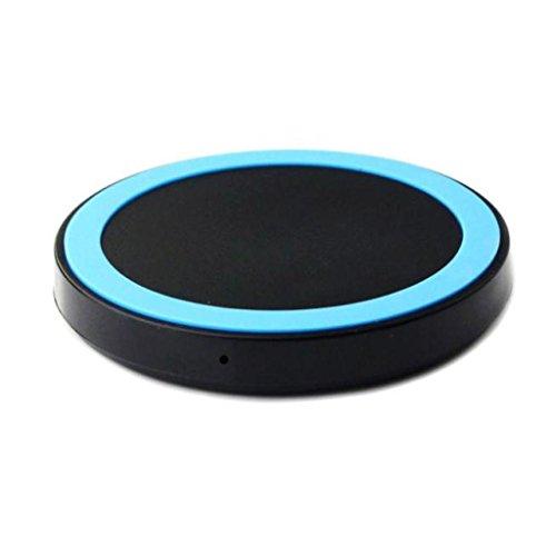 Ouneed® Qi Wireless Ladegerät Lade Pad für Samsung Galaxy S7 / S7 Edge,Tischladestation, Dock für Handy (blau) (Htc Lade-pad)