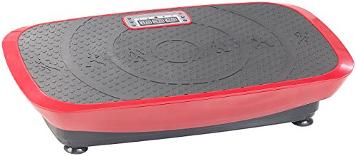 Newgen Medicals Vibrationstrainer: Breite 3D-Vibrationsplatte WBV-600.3D, 500 Watt, 20 Frequenzen & Timer (Vibrationsshaper)