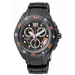 Vagary Watch By Citizen Quartz Iy2-041-50(Rechargeable) quandrante Black Steel Strap CAUCCIU '