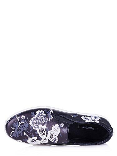 CS1365AR1708Q838 Dolce&Gabbana Pantoffeln Herren Leder Schwarz Schwarz