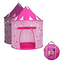 Yoobe Princess Castle Play Tent with Glow in the Dark Stars, your kids will enjoy this Foldable Pop Up pink play tent/house toy for Indoor & Outdoor Use