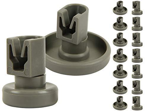 McFilter Korbrollen-Set für Geschirrspüler (8x Oberkorbrollen + 8x Unterkorbrollen), Rollen geeignet als Ersatzteil für unteren und oberen Korb verschiedenster Spülmaschinen