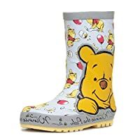 Shoe Zone Winnie The Pooh Kamen Kids Light Blue Wellington