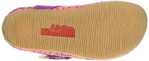 Living Kitzbühel Ballerina Multicolor Mit Blume, chaussons d'intérieur fille Mehrfarbig (Fuchsia/Orange)