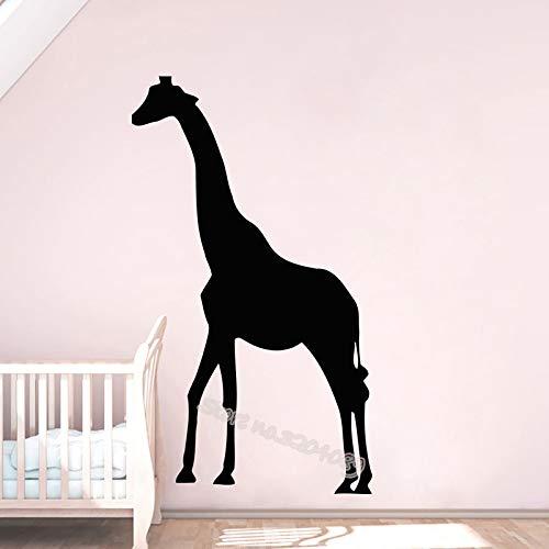 zqyjhkou Einfaches Design Giraffe Silhouette Wandtattoo Für Kinder Baby Kindergarten Wohnkultur Innen Abnehmbare Schöne Wandbilder 1 110x187 cm -