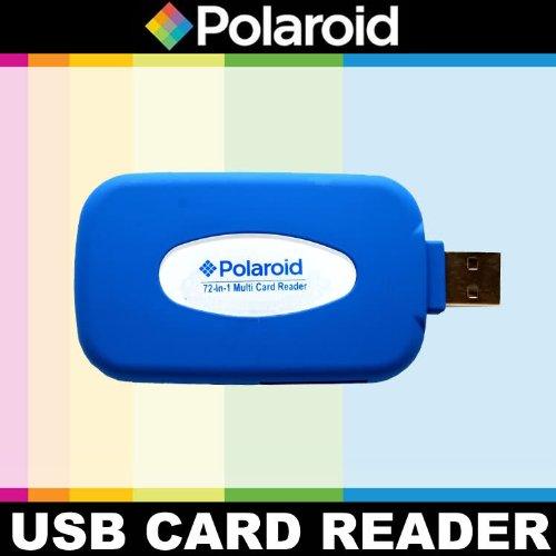 Polaroid Gummierter 72 Hochgeschwindigkeits- Lesescanner/Schreiber (all- in- one reader/ writer) für die Sony Alpha NEX-C3, 7, 6, 5N, 5R, 5, 3, F3, SLT-A33, A35, A37, A55, A57, A65, A77, A99, DSLR A100, A200, A230, A290, A300, A330, A350, A380, A390, A450, A500, A560, A550, A700, A850, A900 Digitale SLR Kameras A550 Dslr-kamera