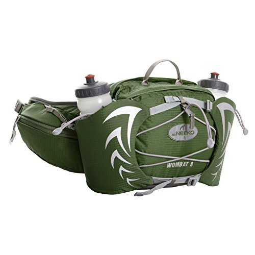 Outdoor Sports Multifunktions Taschen/ running wasserdichte Tasche/Paar Wasserflaschen Grün
