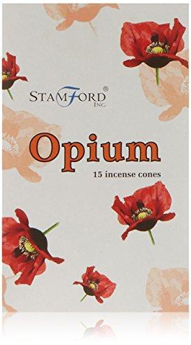 Stamford Lot de 12 boîtes de 15 cônes d'encens Opium