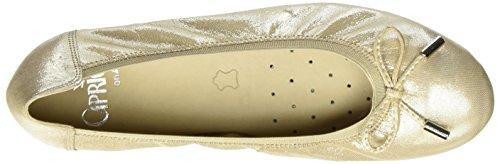 Caprice 22166, Ballerine Donna Beige (Beige Glitter)