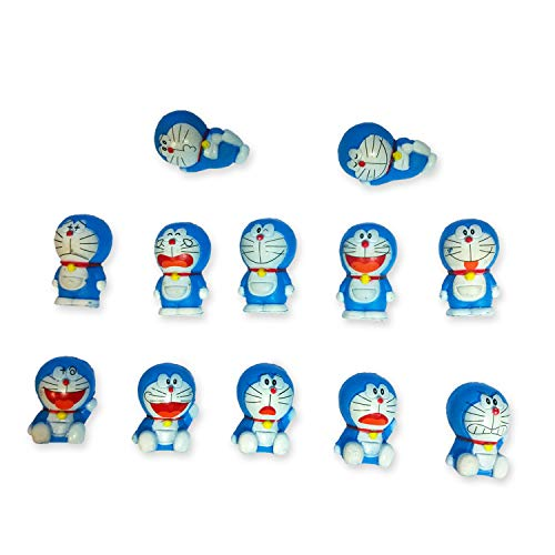 DORAEMON Cat Robot Cat Complete Set 12 Mini Original Figures ALSO for Cake Cake Topper Original