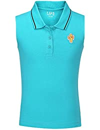 LIFE by Shoppers Stop Girls Solid Polo Tee
