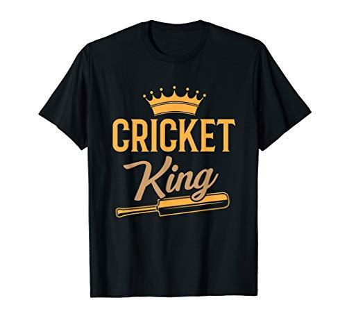Cricket King Bat Jersey India Sport Player Coach Gift T-Shirt