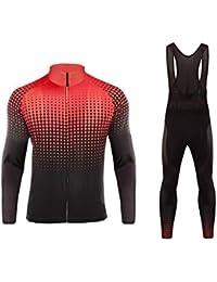 BurningBikewear Uglyfrog Maillot de Ciclismo, Culotte Ciclismo Hombre Invierno de Manga Larga Jersey + Pantalones