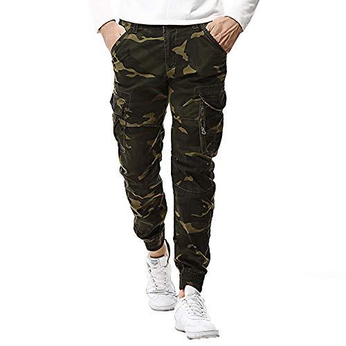 Geili Cargohose Herren Chinohosen Vielen Taschen Camouflage Hose Hochwertige Outdoor Militär Army Feldhose Übergrößen Lang Arbeitshose Stoffhose Freizeithose Traveler Trousers für Männer