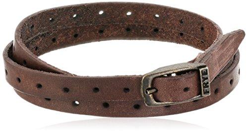 frye-unisex-brown-perfed-wrap-cuff-bracelet