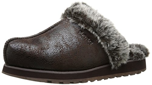 Skechers - Keepsakes - Winter Wonder, Ciabatte Donna Chocolate