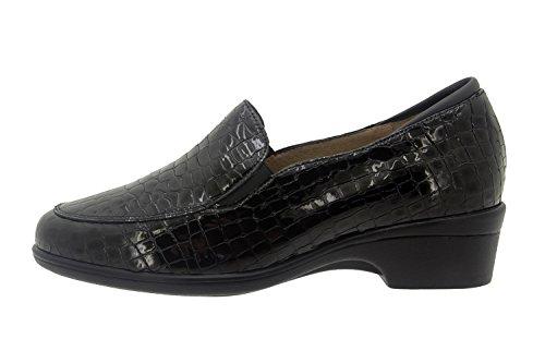 Scarpe donna comfort pelle Piesanto 7609 casual comfort larghezza speciale Negro