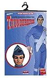 Smiffys Men's Thunderbirds Scott Costume, Jumpsuit, Hat, Boot Covers & Sash, Size: L, Color: Blue, 29948