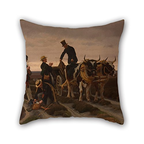 beautifulseason Oil Painting Frants Henningsen - Walking Trip. Jutland. Pillow Cases 20 X 20 Inches/50 by 50 cm Gift or Decor for Living Room,Bedding,Office,Seat,Christmas,Son - Both Sides
