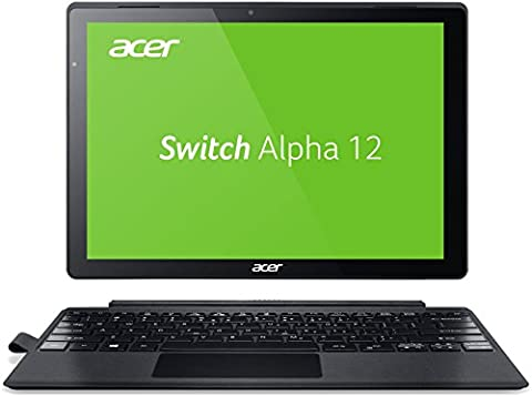 Acer Switch Alpha 12 SA5-271-53QS 30,5 cm (12 Zoll QHD Touch IPS) Convertible Notebook (Intel Core i5-6200U, 8GB RAM, 256GB SSD, Windows 10) (Monitor Touch 12 Zoll)