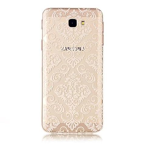 Etui pour Samsung Galay A5 2017 KSHOP Coque Protection en Gel Silicone TPU Premium Bumper Cover 2017 Transparent Crystal Design avec Motif - Motif Rose Clair