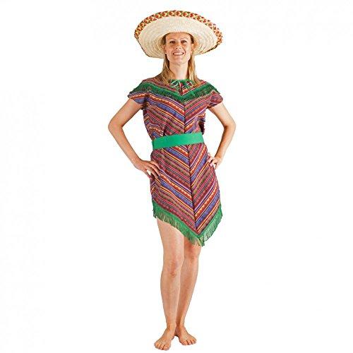 Von Kostüm Mexiko - Krause & Sohn Kostüm Mexikanerin bunt/grün Kleid Mexiko Poncho-Kleid Andere Länder (M)