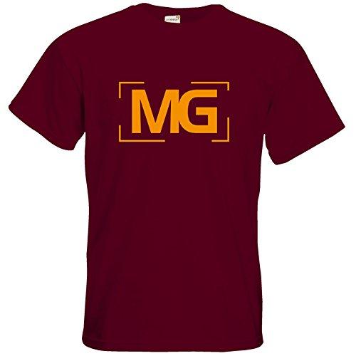 getshirts - Fernsehkritik / Massengeschmack - T-Shirt - Cornerlogo Burgundy