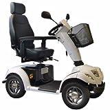 Scooter electrique senior Carpo 4 roues blanc