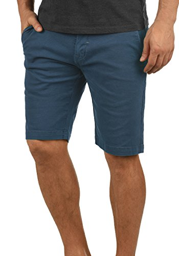 Redefined Rebel Malakai Herren Chino Shorts Bermuda Kurze Hose aus Stretch-Material Regular Fit, Größe:L, Farbe:Mid Blue