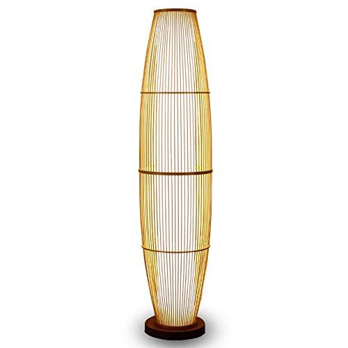Stehleuchte Vertikale Stehlampe, Klassische Zen Chinesischen Stil Wohnzimmer Schlafzimmer Bambus Lampen Japan Teehaus Stehlampe Erleuchtung ( Farbe : A )