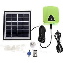 UEETEK Cargador Solar Aire Móvil Aireador de burbujas Acuario Tanque de Peces Bomba de Estanque Hidrógeno Oxígeno