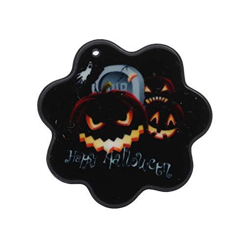 Lumanuby 1x Halloween Thema Brosche für Party Cosplay Maskerade Acryl Material Kürbis oder Geist Fledermäuse Brooch für Damen und Herren Kreatives Geschenk für Süßes oder Saures size 3.5x3.8cm (Kürbis 3)