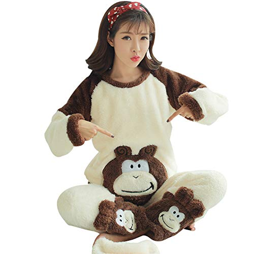 Yshuiyi Pyjamas Herbst Und Winter Modelle Korallenrote Fleece Umstandsmode Prinzessin Modelle Niedlichen Flanell Nach Der Geburt Stillen Kleidung Pyjamas ()
