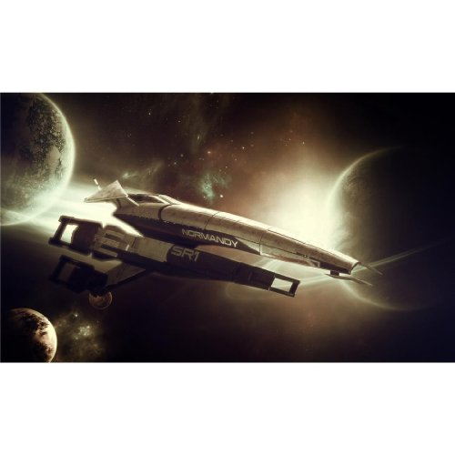 Mass Effect (24inch x 14inch / 59cm x 35cm) Silk Print Poster - Seide Plakat - 0F13FF