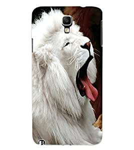 ColourCraft White Lion Design Back Case Cover for SAMSUNG GALAXY NOTE 3 NEO N7505