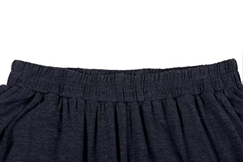 Herren zweiteiliger Schlafanzug kurzer Pyjama Anzug softweich Nachtwäsche Shorty T-Shirt uni Hose 2-tlg Set Kurzarm Shirt & Shorts Lemonmoon Grau