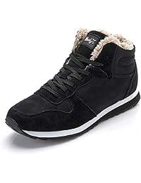 LIEBE721 Unisex Snow Boots Winter Warm Shoes Antideslizante Felpa de Moda Casual Zapatos al Aire Libre