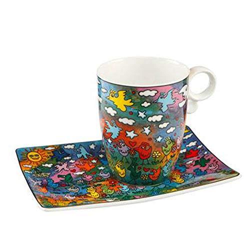 Goebel Up Down and Fly Around - Künstlerbecher Pop Art James Rizzi Bunt Fine Bone China 26102231