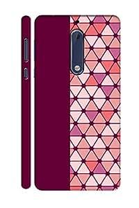 AMAN Plain & Diamond 3D Back Cover for Nokia 5