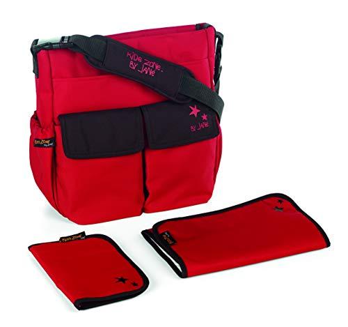 Jané 080182 S53 - Bolso cambiador con portadocumentos, Color Red