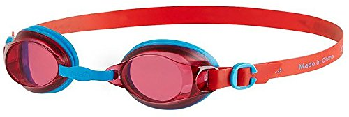 Speedo Kinder Jet Junior Goggles, Turquoise/Lava Red, One Size