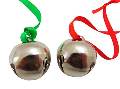 Westmon Works Glöckchen-Ornament-Set für Weihnachtsbaum auf Schleife mit Geschenktüten, 2 Stück