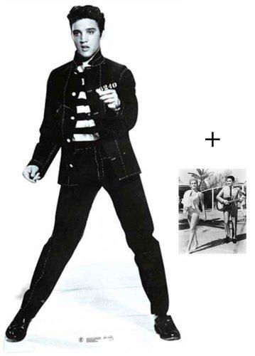 Unbekannt Fanbündel - Elvis Presley Jailhouse Rock Lebensgrosse Pappfiguren/Stehplatzinhaber/Aufsteller - Enthält 8X10 (25X20Cm) starfoto