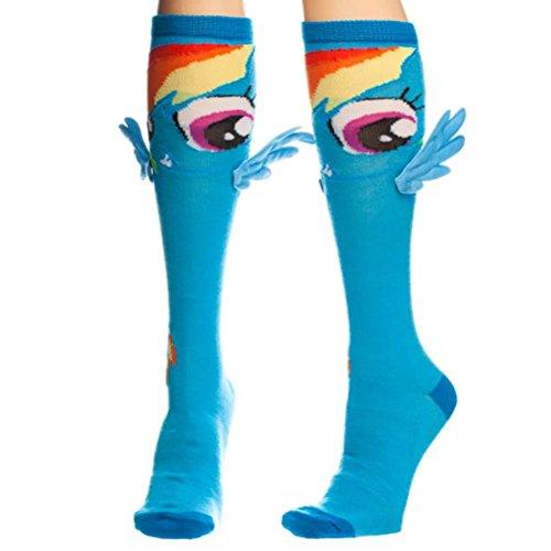My Little Pony Rainbow Dash Knee High Socks with Wings (Rainbow Dash Party)