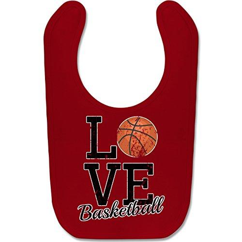 Sport Baby - Love Basketball - Unisize - Rot - BZ12 - Baby Lätzchen Baumwolle
