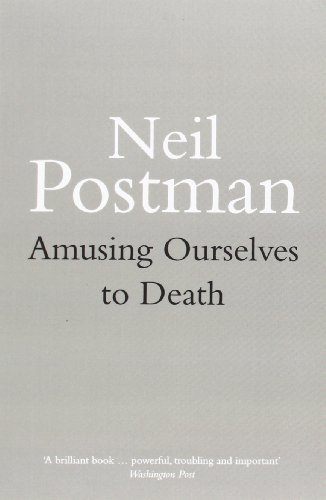 a short review of amusing ourselves to death a book by neil postman Amusing ourselves to death is an amazingly written and well-argued book as postman notes: in the victorian era (mid-late 1800s), novelist charles dickens had as much fame as the beatles in 1960, michael jackson in 1980, or brad pitt in 2014.