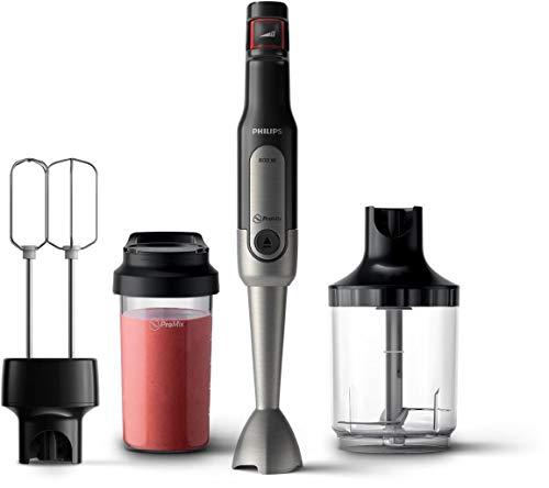 Philips Stabmixer Viva HR2653/90 (800W, SpeedTouch, inkl. 2-in-1 Togo Trinkflasche, Handmixeraufsatz) edelstahl