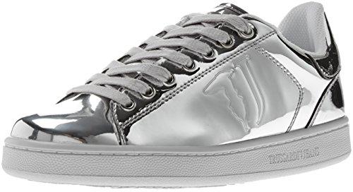 Trussardi Jeans 79a00004-9y099999, Sneaker a Collo Basso Donna Argento