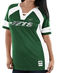 """New York Jets Women's Majestic NFL """"Draft Me 3"""" Jersey Maillot Top shirt Chemise - Green"""